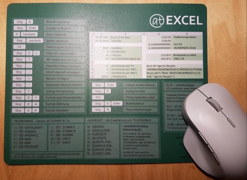 Excel-Mauspad